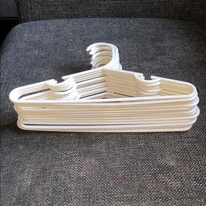 15 Count of White Colored Baby Hangers